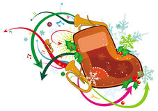 Christmas boot Stock Images