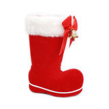 Christmas boot. Isolated on white background Royalty Free Stock Photography