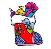 Christmas boot cartoon illustration Stock Photography