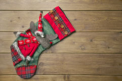 Christmas boot with a deer Royalty Free Stock Photography