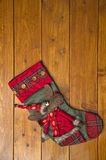 Christmas boot with a deer Royalty Free Stock Photos