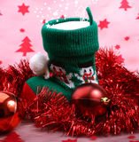 Christmas boot with gifts. Royalty Free Stock Images