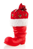 Christmas boot with presents Royalty Free Stock Image