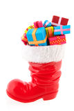 Christmas boot with presents Stock Photos