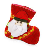 Christmas boots, socks isolated on white Royalty Free Stock Photo
