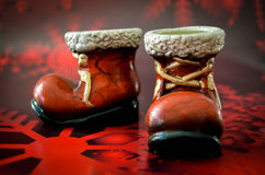 Christmas boots Royalty Free Stock Image