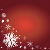 Christmas border. Winter border with snowflake detail - additional ai and eps format available on request Stock Photo
