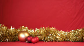 Christmas border. Bright Christmas border with copy space Stock Image