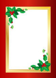 Christmas border. Christmas related gold and red border illustration. An additional Vector .Eps file available. (you can use elements separately royalty free illustration
