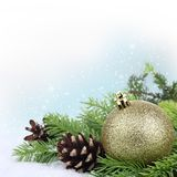 Christmas border Stock Photography
