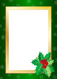 Christmas border. Illustration composition Christmas border design with holly leaves Royalty Free Stock Photography