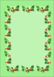 Christmas border. Gree christmas border illustration royalty free illustration