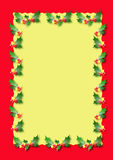 Christmas border. Red and yellow border illustration Stock Image