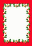 Christmas border. Red and white christms border illustration Stock Images