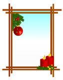 Christmas border. Illustrated christmas border with ornaments.eps file is available vector illustration