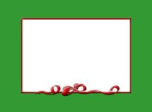 Christmas border. Green border with a red bow Stock Illustration