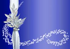 Christmas Border B. Christmas border with blue background and snowflakes Royalty Free Stock Images