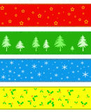Christmas border or banner. S, Christmas illustrations Stock Photo
