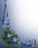 Christmas Border Blue Royalty Free Stock Images