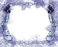 Christmas Border Blue Stock Photos