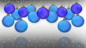 Christmas Border Blue Stock Images