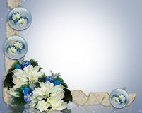 Christmas Border Blue and white Stock Image