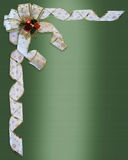 Christmas Border Bow and ribbons Royalty Free Stock Photos