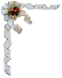 Christmas Border Bow and ribbons Stock Photography