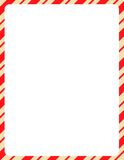 Christmas Border / candy cane Stock Images