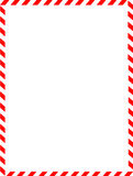 Christmas Border / candy cane Stock Photography
