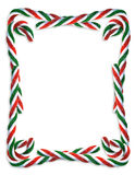 Christmas border Candy Canes  Stock Photography