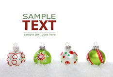 Christmas Border with Colorful Lights Stock Images