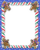 Christmas Border Cookies and Candy Royalty Free Stock Images