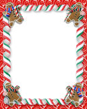 Christmas Border Cookies and Candy Royalty Free Stock Photos