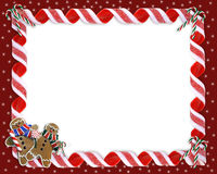 Christmas Border Cookies and Candy Stock Photos