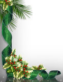 Christmas Border Corner design green Stock Images