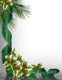 Christmas Border Corner design green Stock Images