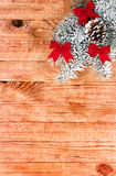 Christmas border with decoration Stock Photo