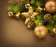 Christmas Border Design Stock Image