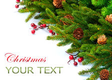 Christmas Border Design Stock Photo