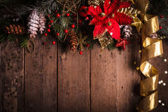 Christmas border design Royalty Free Stock Image