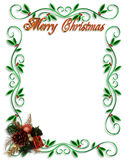 Christmas Border design. Illustrated Background, border or frame for Christmas holiday with copy space royalty free illustration