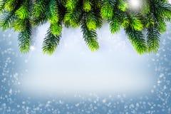 Christmas border design. Christmas Greeting Card Stock Image