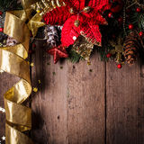 Christmas border design Stock Image