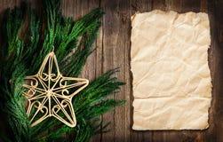 Christmas border design Stock Photos