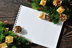 Christmas border design Stock Photography