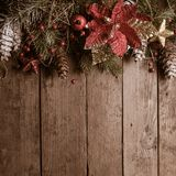 Christmas border design Stock Images