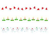 Christmas Border/ divider Royalty Free Stock Photography