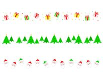 Christmas Border/ divider stock illustration