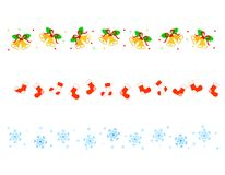 Christmas Border/ divider Royalty Free Stock Photos